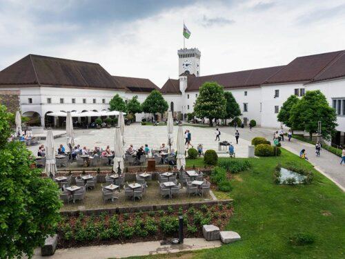 Ljubljanski grad: notranje dvoriščeLjubljana castle: inner court